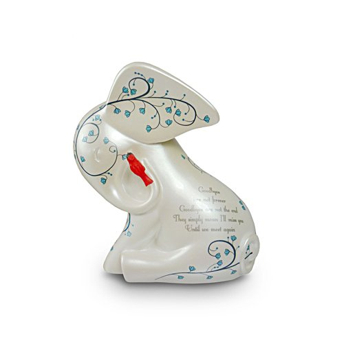 'Until We Meet Again' Elephant And Cardinal Figurine