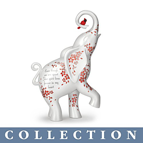 'Your Spirit Lives Forever In Our Hearts' Elephant Figurine Collection