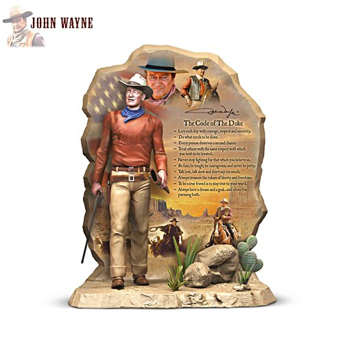 John Wayne 'The Code Of The Duke' Sculpture