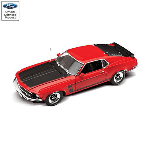 '69 Ford Mustang Boss 302 1:18-Scale Replica Sculpture
