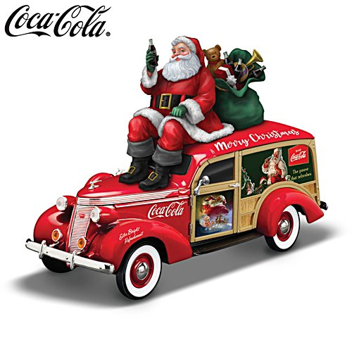 1:18-Scale COCA-COLA®  Christmas Woody Wagon Sculpture
