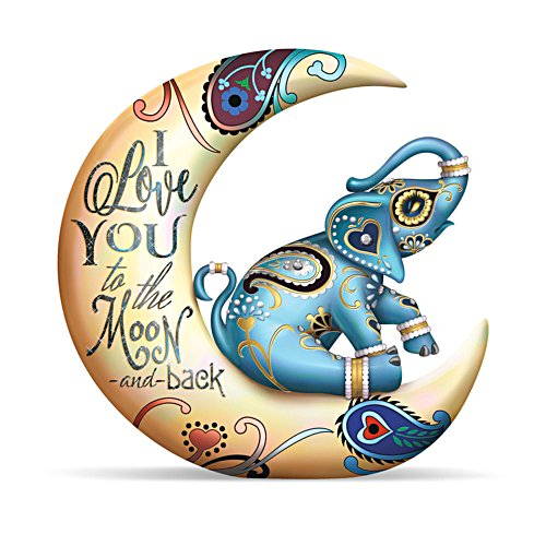 'I Love You To The Moon And Back' Elephant Figurine