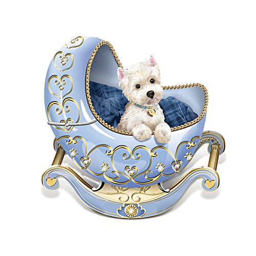 'Adoring Eyes' Westie Cradle Figurine