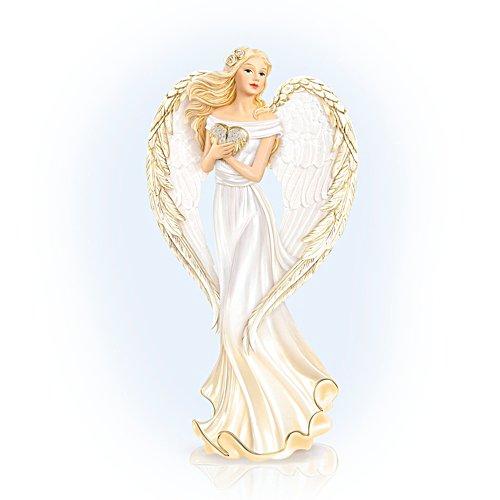 'Guardian Angel Embrace' Crystal Figurine