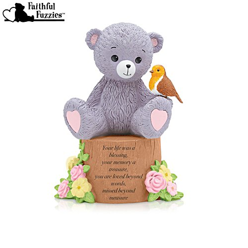 'Your Life Was A Blessing' Faithful Fuzzies® Robin Figurine