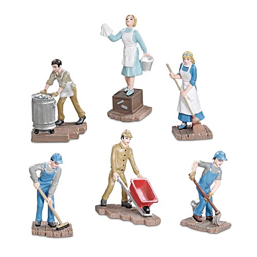 'Trackside Cleaning' Train Accessory Figurine Set