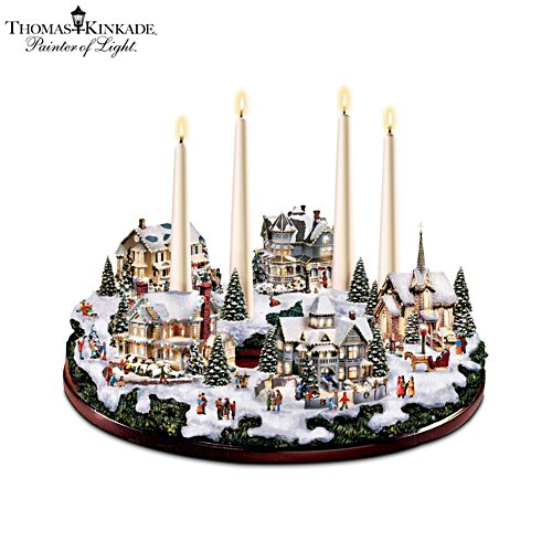 Thomas Kinkade 'A Holiday Gathering' Centrepiece
