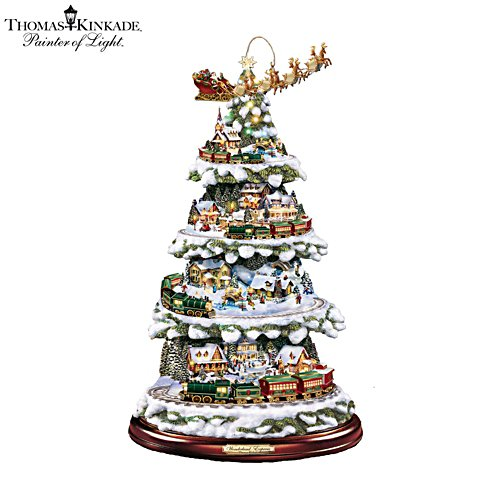 Thomas Kinkade 'Wonderland Express' Christmas Tree