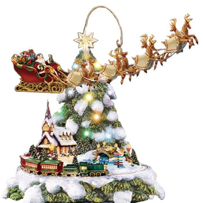 Desktop Christmas Tree Rotating Sculpture🌟 - ivyivyu