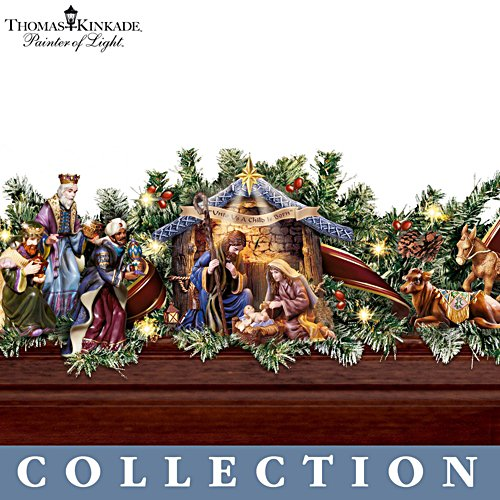 "Thomas Kinkade Illuminated ""Nativity Story"" Garland"