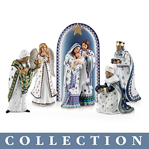 'Silent Night' Polish Stoneware-Style Nativity Collection