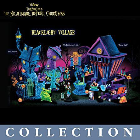 Tim Burton's 'The Nightmare Before Christmas' Black Light Village Collection