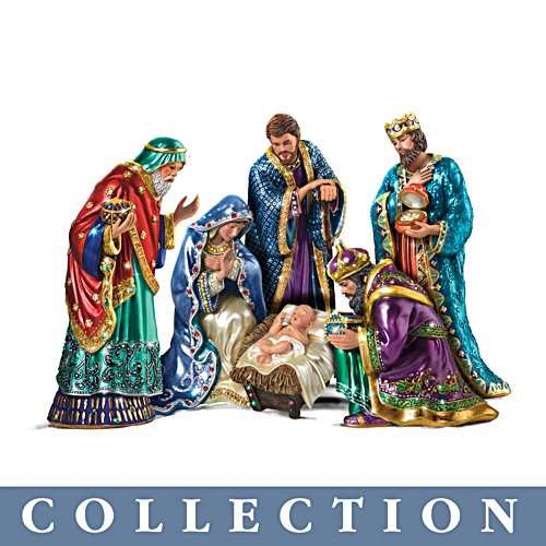 'The Jewelled Nativity' Figurine Collection