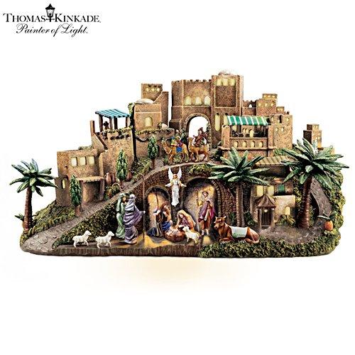 Thomas Kinkade 'O Little Town of Bethlehem' Nativity Sculpture