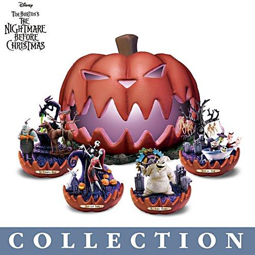 Disney Tim Burton's Nightmare Before Christmas 'Pumpkin King' Sculpture Collection