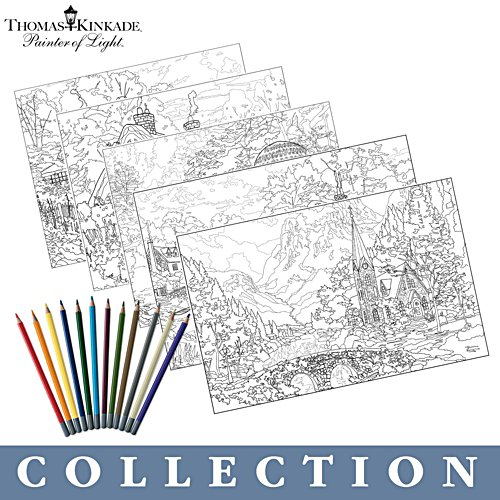 Thomas Kinkade 'Artistic Escapes' Colouring Kit Collection