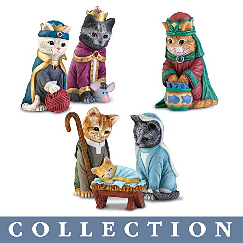 'The PURR-fect Christmas' Cat Nativity Figurine Collection