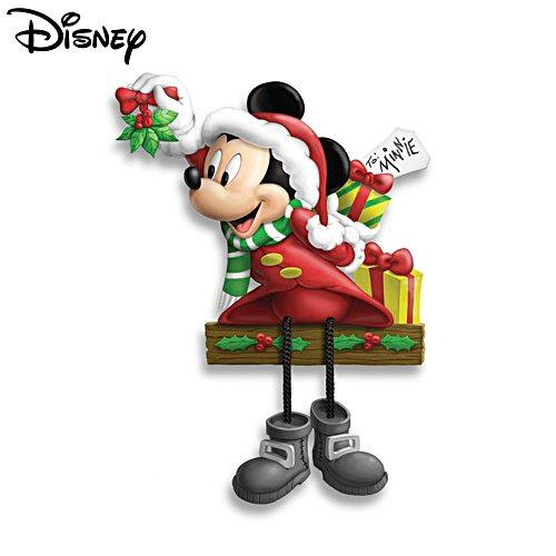 Disney 'Mistletoe Mickey' Christmas Shelf-Sitter Sculpture
