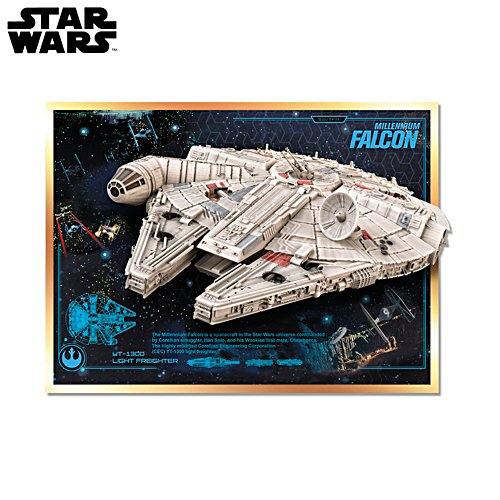 Star Wars™ Millennium Falcon Illuminating Musical Wall Sculpture