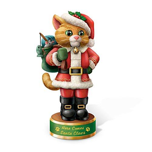 'Here Comes Santa Claws' Cat Nutcracker Figurine