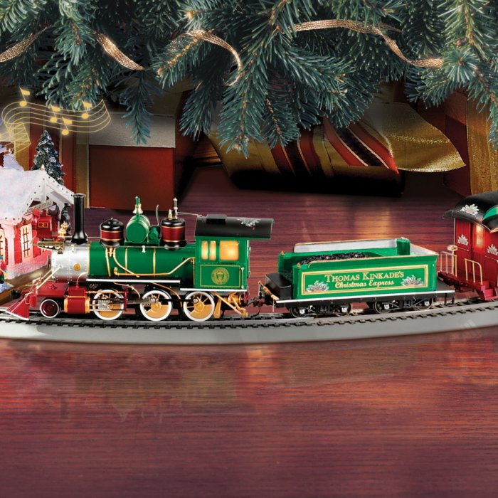 Thomas Kinkade Christmas.Thomas Kinkade Christmas Express Locomotive Collection