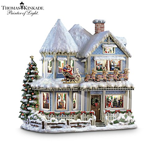 Thomas Kinkade ''Twas The Night Before Christmas' Story House