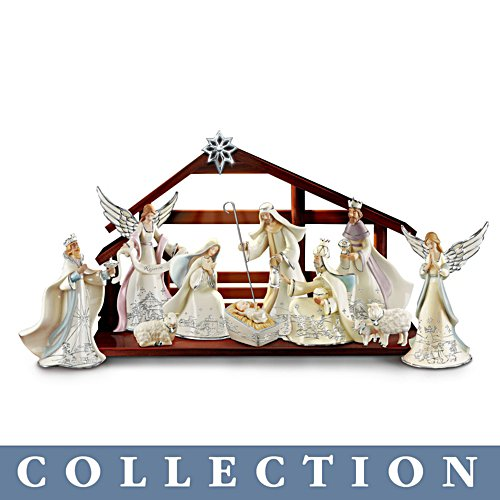 'Silver Blessings' Nativity Collection