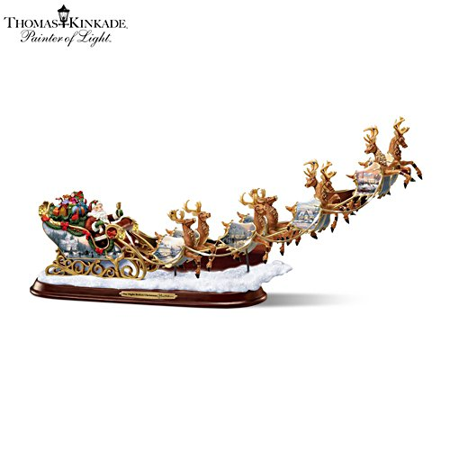 Thomas Kinkade 'The Night Before Christmas' Sculpture