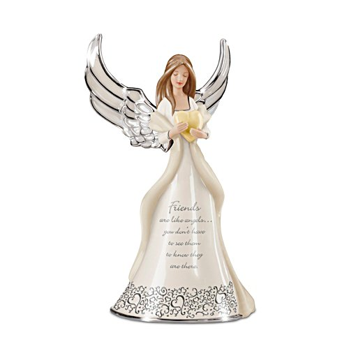 'Friends Are Like Angels' Heirloom Porcelain® Figurine