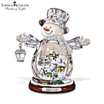 Thomas Kinkade White Christmas Masterpiece Edition Snowman