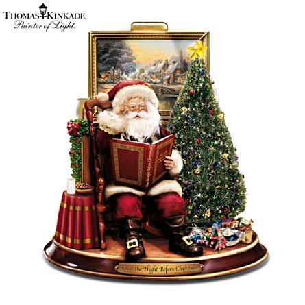 Thomas Kinkade 'Night Before Christmas' Narrating Santa