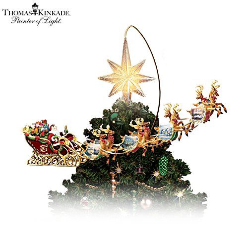 Thomas Kinkade 'Holidays In Motion' Tree Topper
