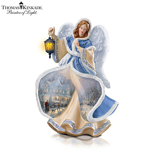 Thomas Kinkade 'Winter Angel Of Light' Porcelain Figurine