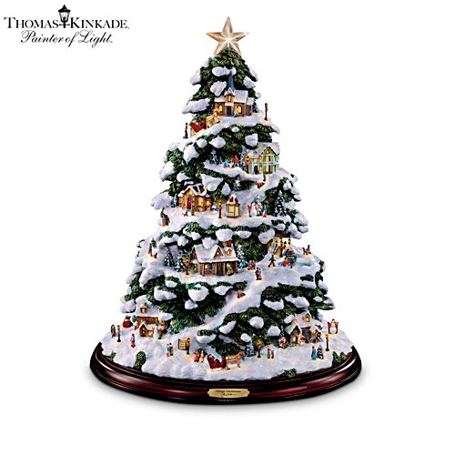 Thomas Kinkade 'Village Christmas' Illuminated Tabletop Tree