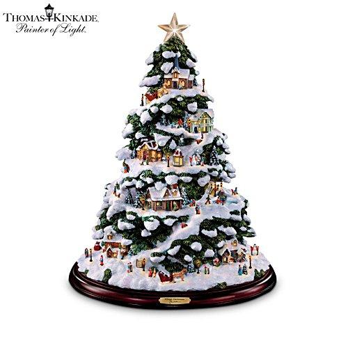 Thomas Kinkade 'Village Christmas' Illuminated Tabletop Tree