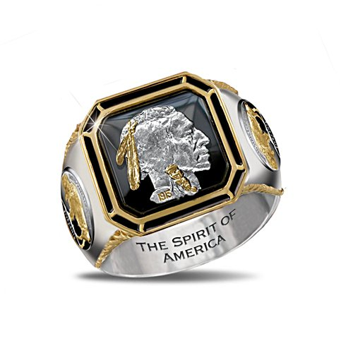 'The Spirit Of America' Indian Head Nickel Men's Ring