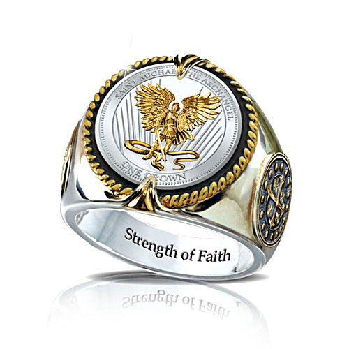 'St. Michael The Guardian' Silver Crown Ring