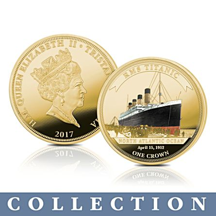 'The Legendary Shipwrecks' Gold Crown Coin Collection