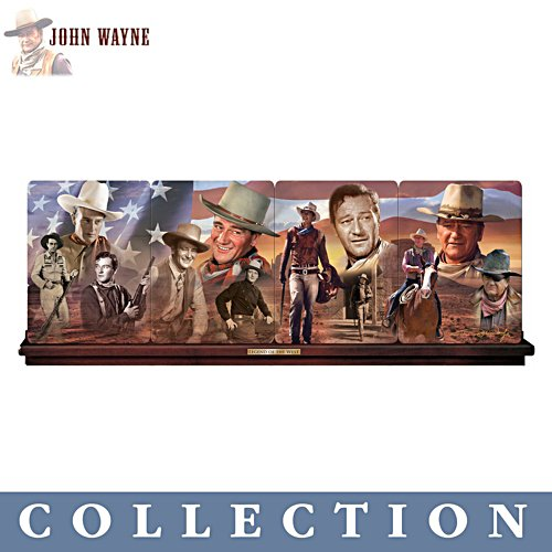 John Wayne 'The Legend Of The West' Plate Panorama Collection