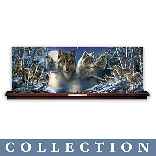 James Meger 'Mystic Gathering' Wolf Plate Panorama Collection
