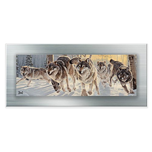 'Wolves Shadow Play' Gallery Editions Panorama Print