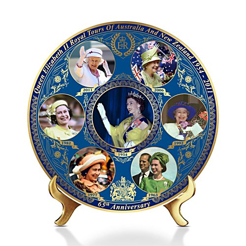 'Queen's Royal Tours Of Australia And New Zealand' Gallery Editions Plate