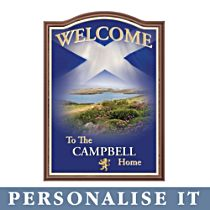 'Spirit Of Scotland' Personalised Welcome Sign