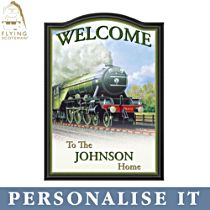 Flying Scotsman Personalised Welcome Sign