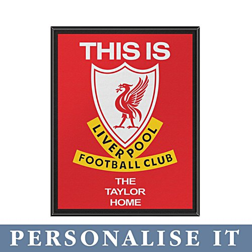 'This Is Anfield' Liverpool FC Personalised Tunnel Sign