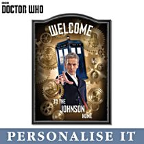 Doctor Who Personalised Welcome Sign