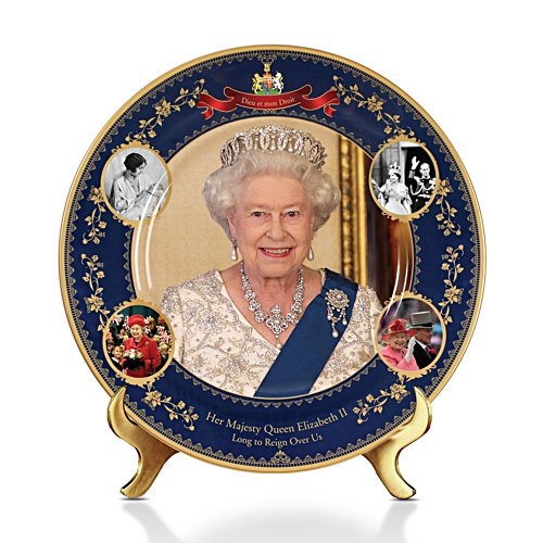 Queen Elizabeth II 'Long To Reign Over Us' Plate