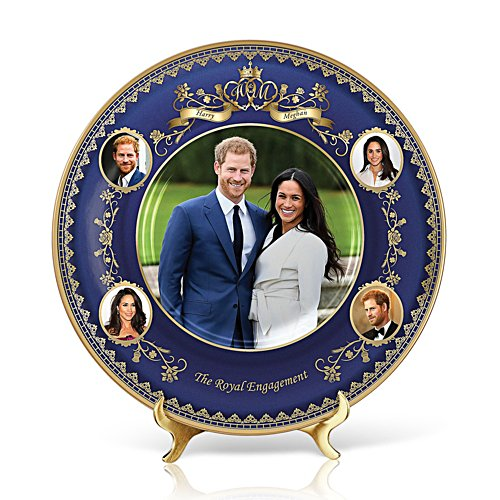 'The Royal Engagement' Prince Harry & Meghan Heirloom Porcelain® Plate