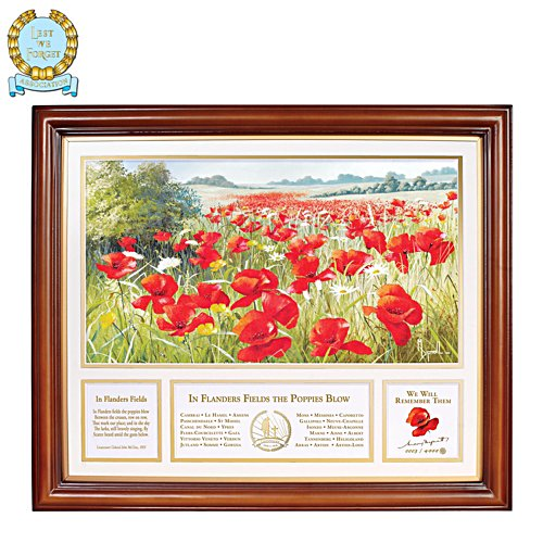 'In Flanders Field' Poppy Print