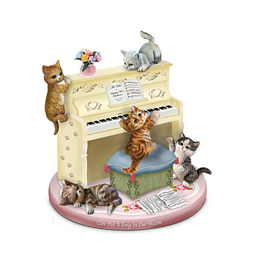 'Cats Put A Song In Our Hearts' Music Box